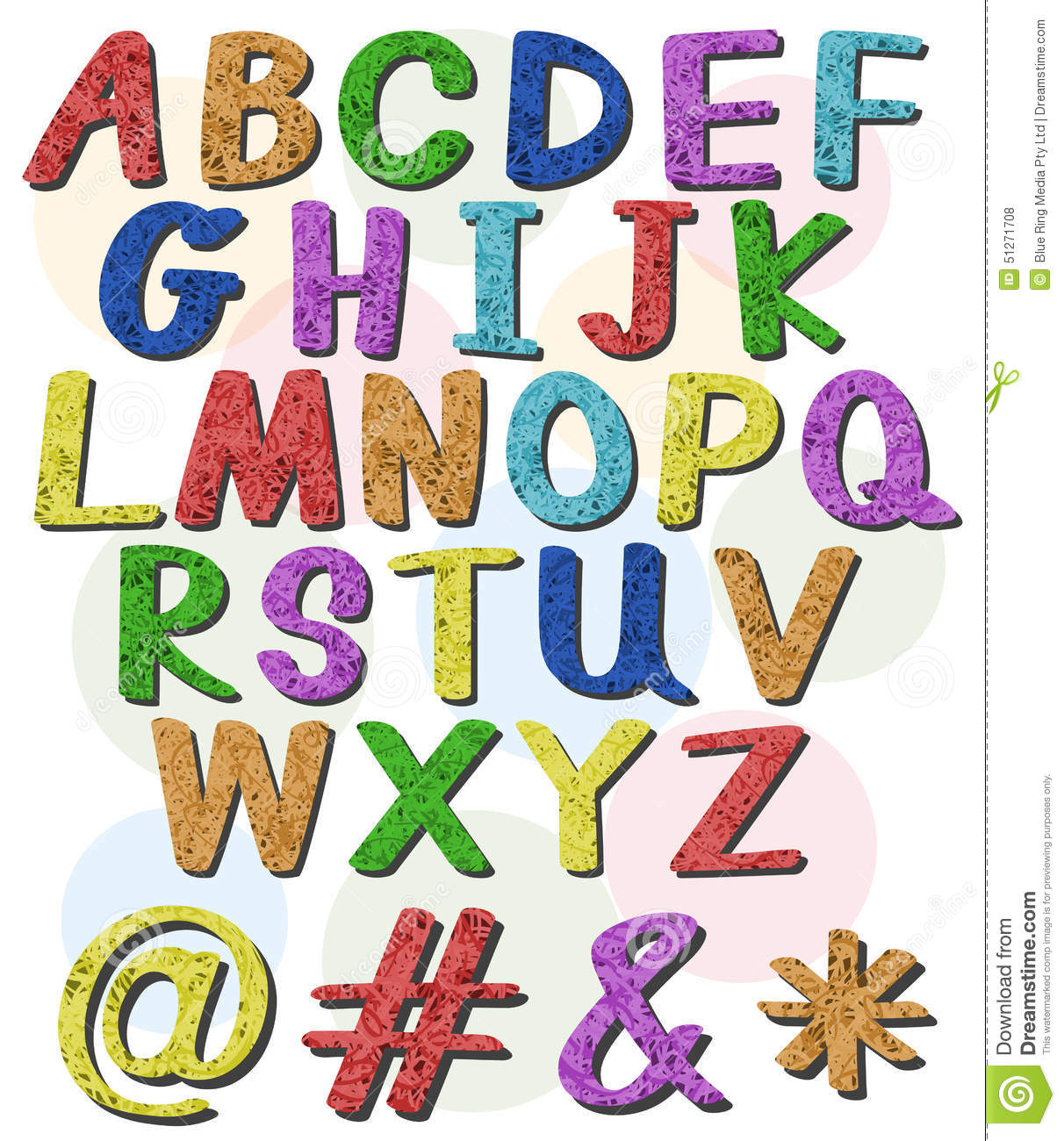 Colorful Big Letters Of The Alphabet Stock Vector ...