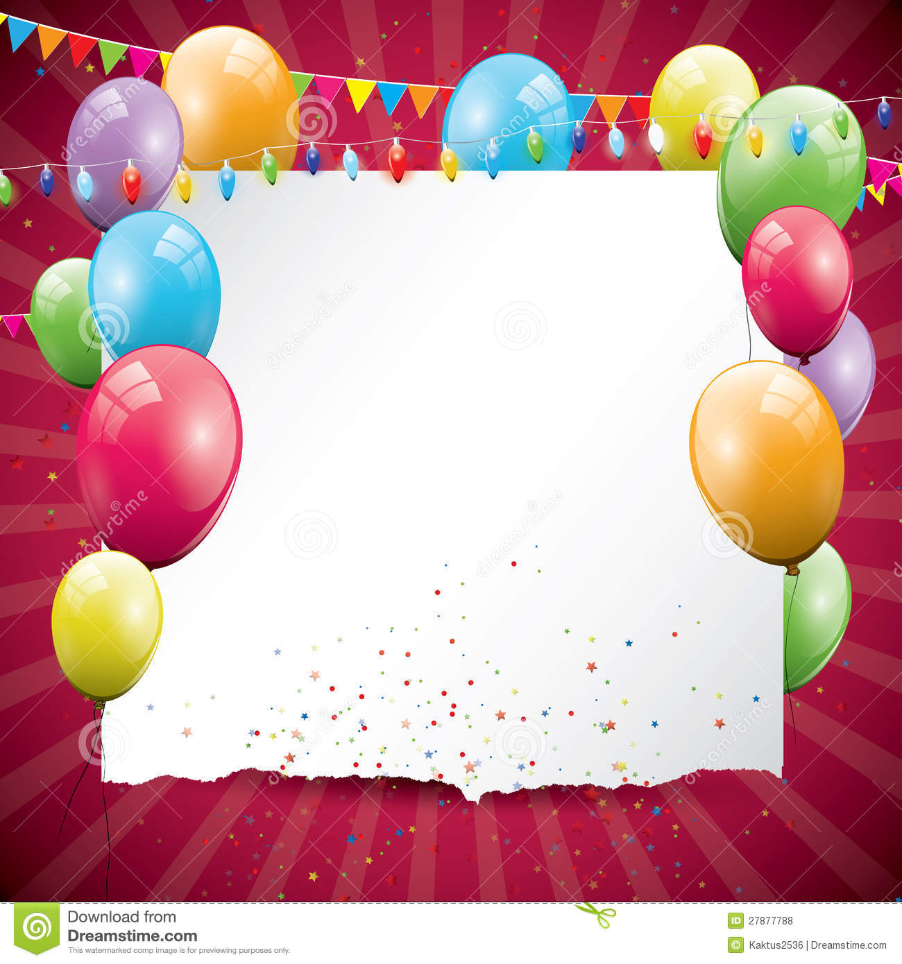 Colorful Birthday Background Stock Photo - Image of ...