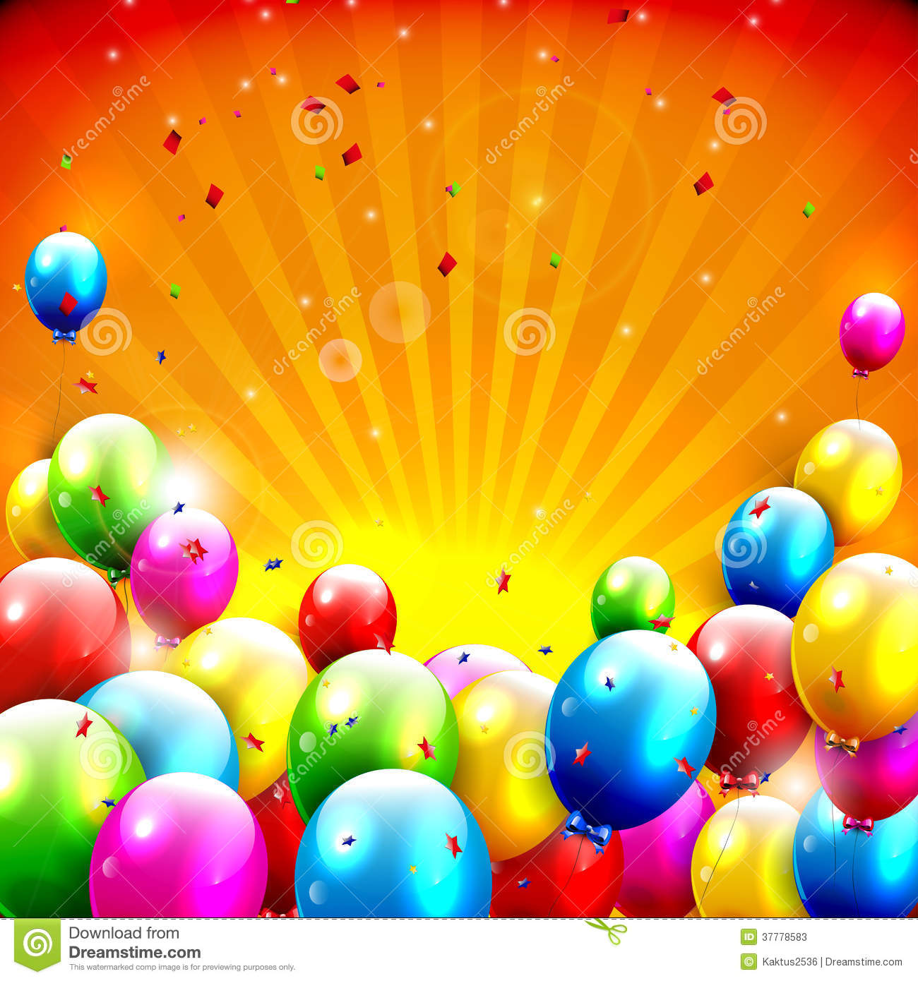 Colorful Birthday Background Stock Photos - Image: 37778583