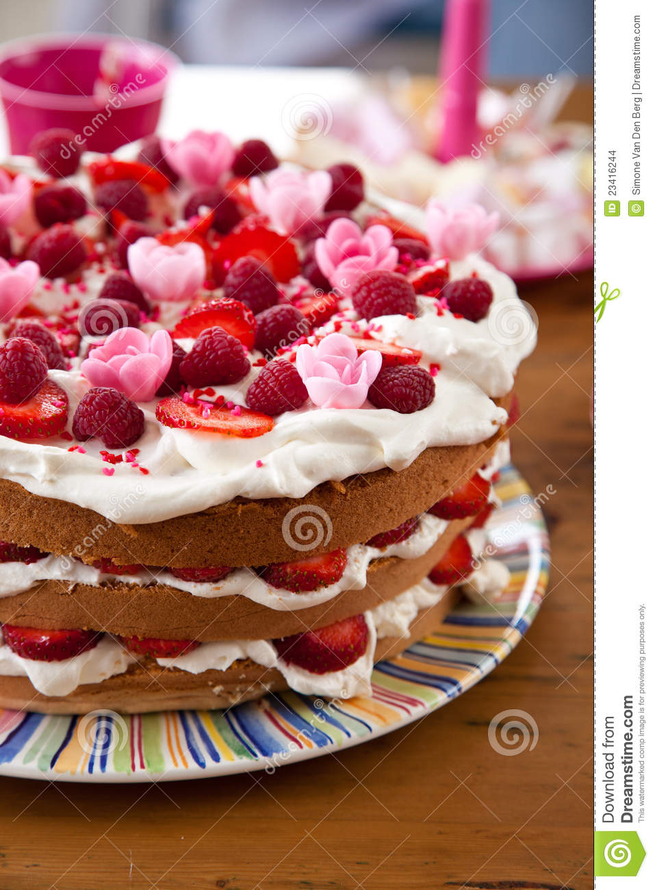 Colorful Birthday Cake Stock Images Image 23416244
