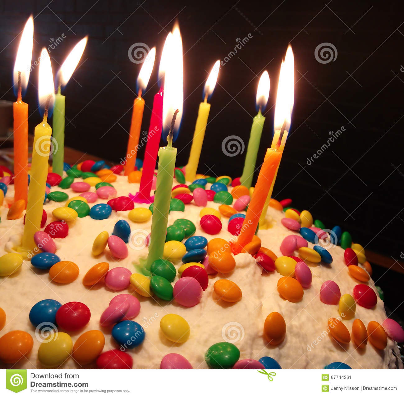 Tremendous Colorful Birthday Cake Stock Image Image Of Happy Celebration Funny Birthday Cards Online Fluifree Goldxyz