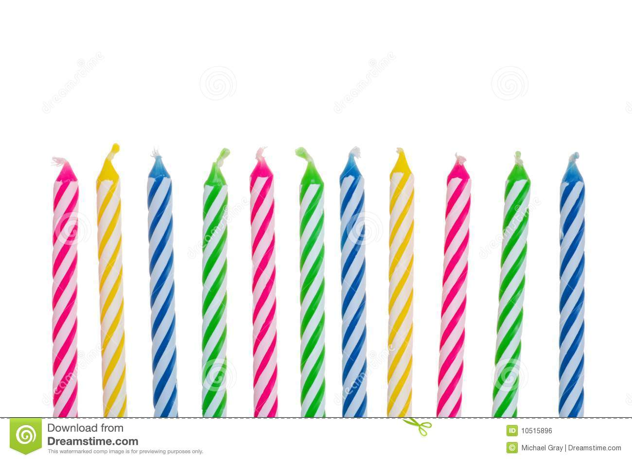 Colorful Birthday Candles Royalty Free Stock Image - Image: 10515896