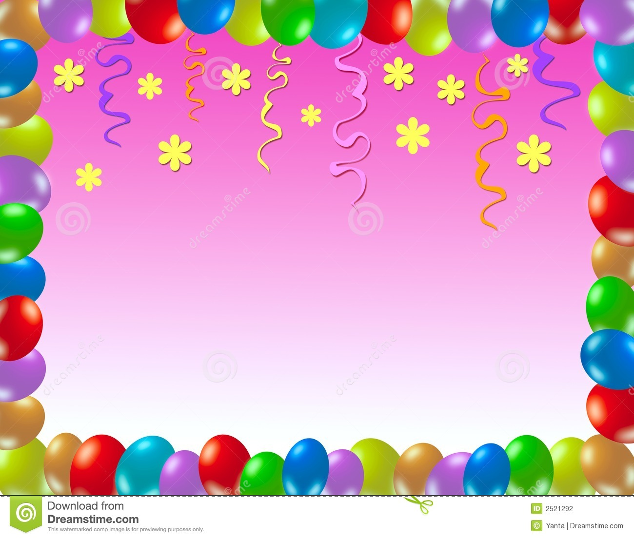 Colorful Birthday Frame Stock Photography Image 2521292