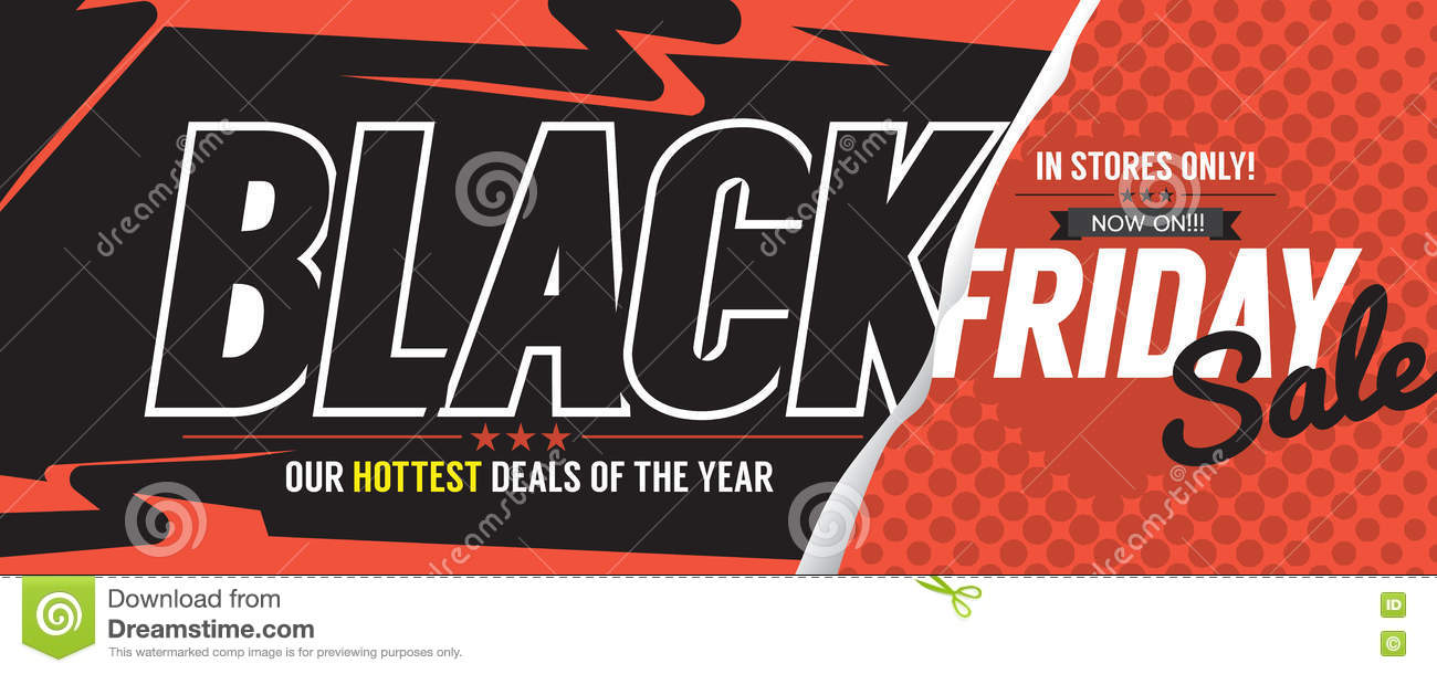 colorful black friday sale marketing promotion banner stock vector