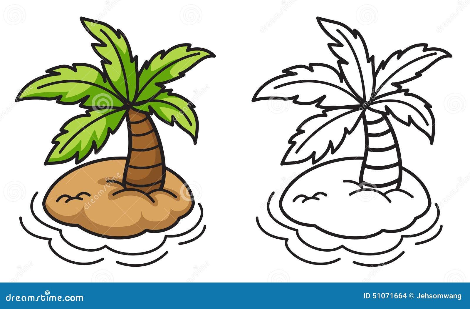 treasure island map kids coloring page stock illustration image
