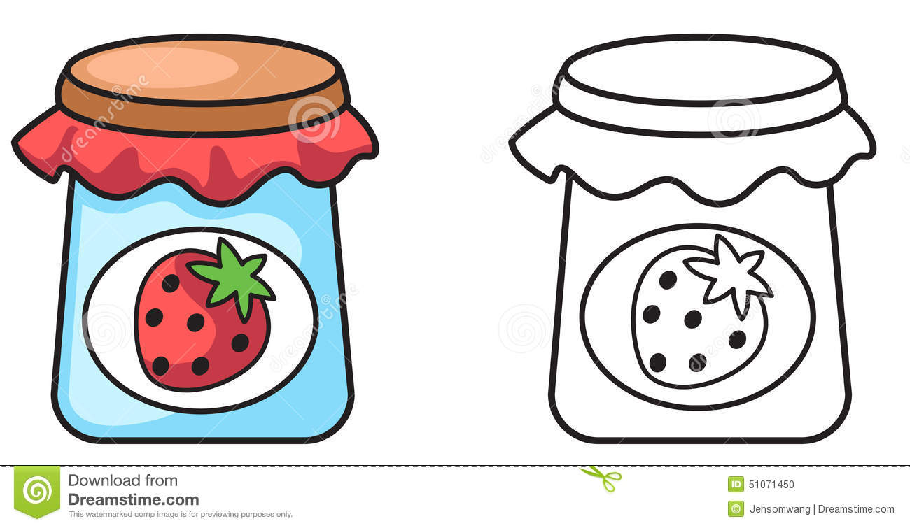 Illustration of isolated colorful and black and white jam for coloring ... Happy Child Clipart