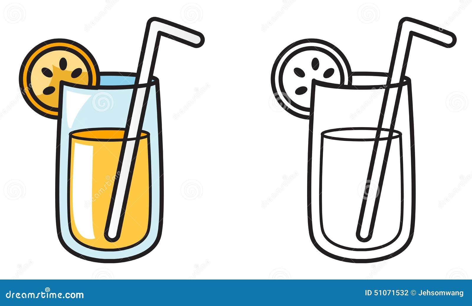 imagens de desenho para colorir de suco