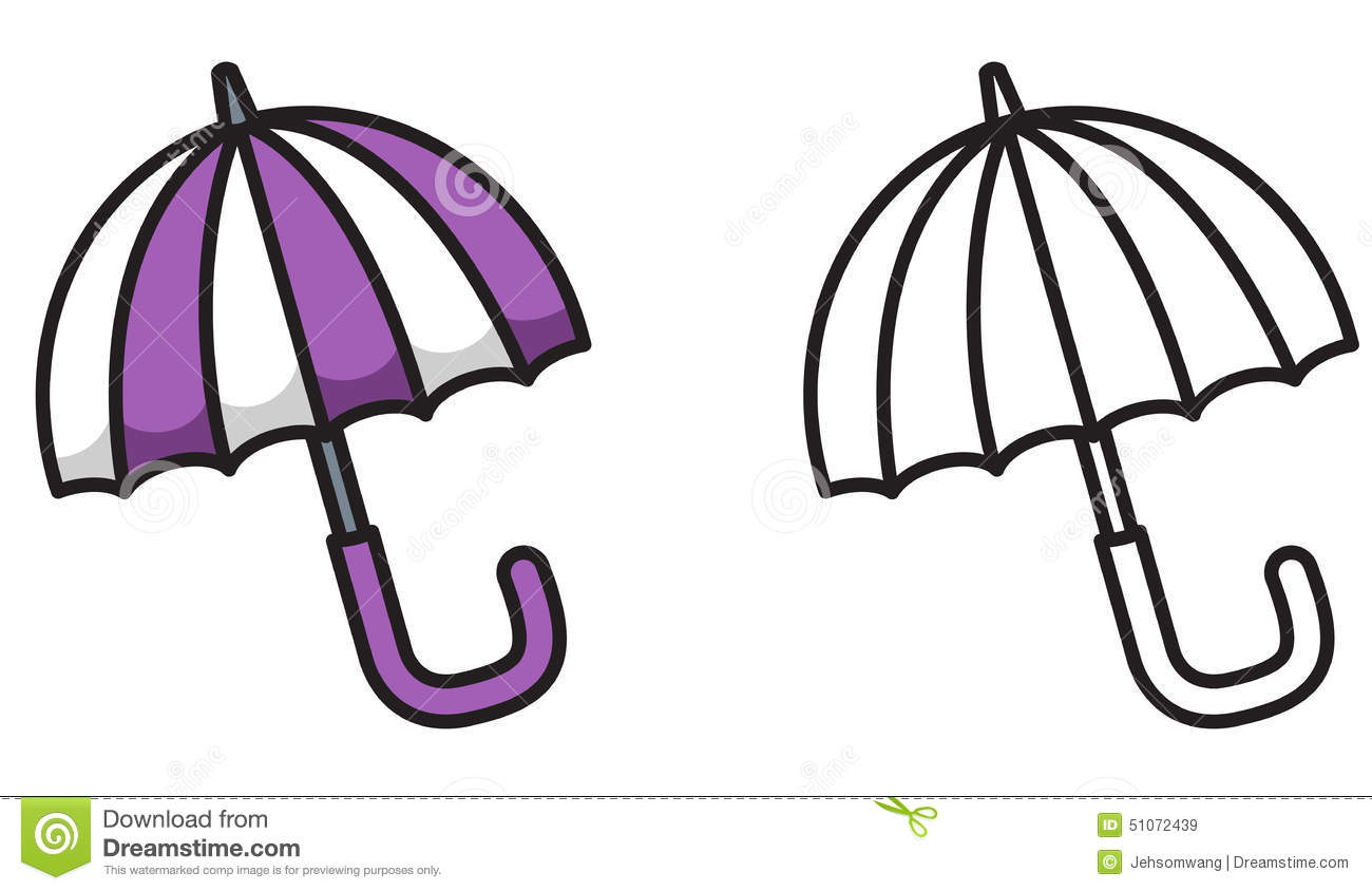 Royalty Free Vector Download Colorful And Black White Umbrella For Coloring Book