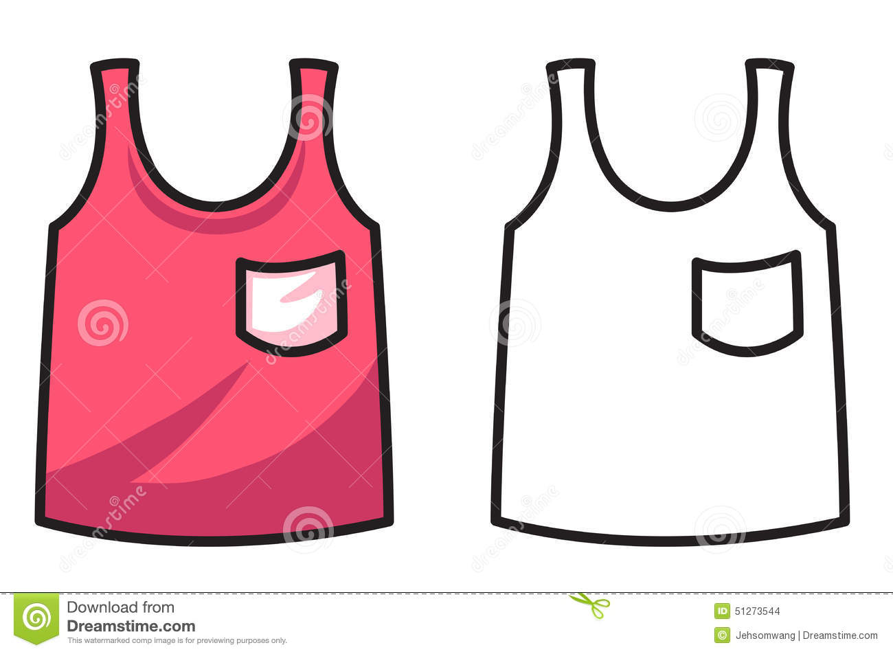 colorful and black and white vest for coloring book stock vector rh dreamstime com Van Clip Art Black and White Vulture Clip Art Black and White