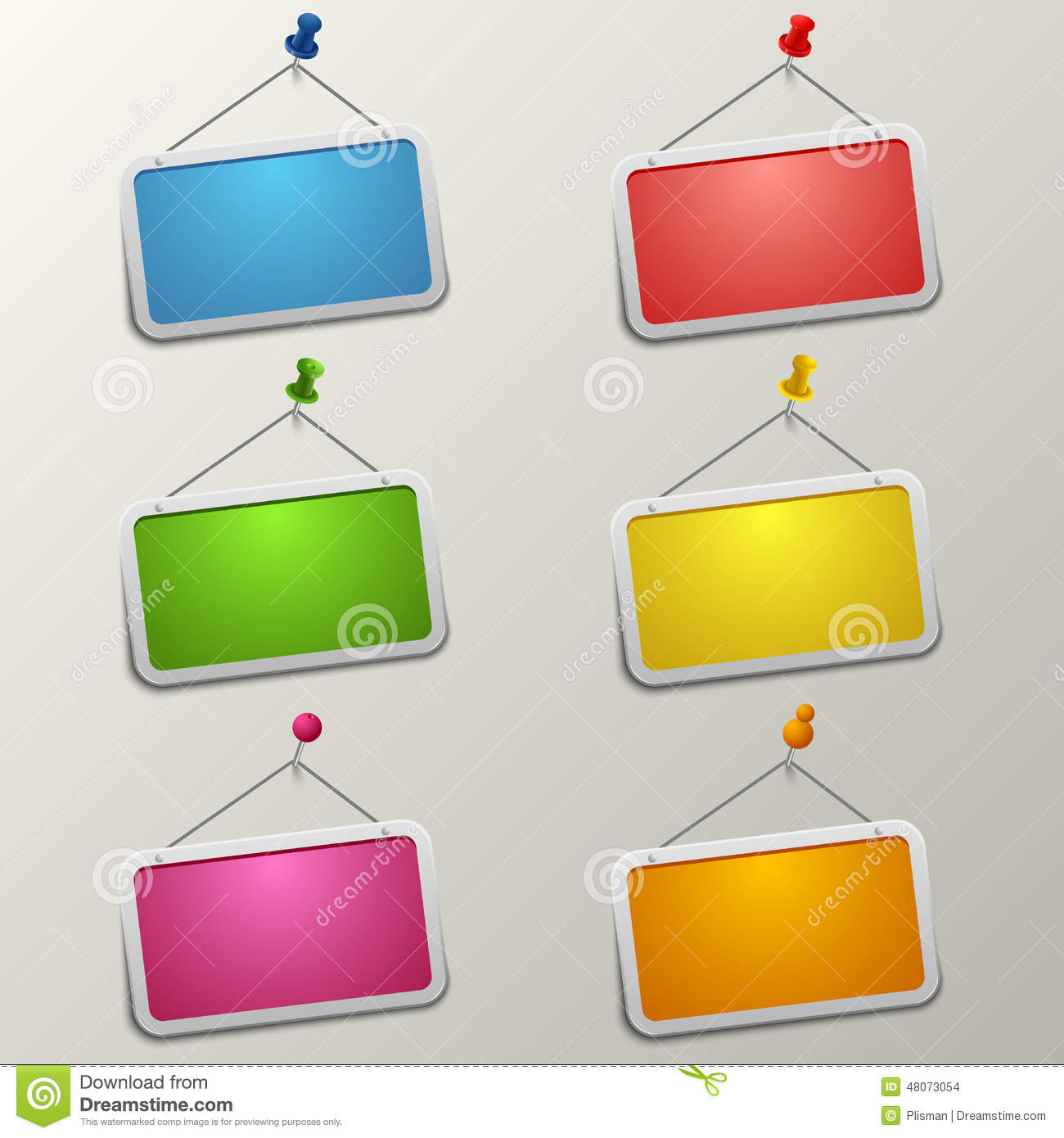 Colorful Blank Labels ...