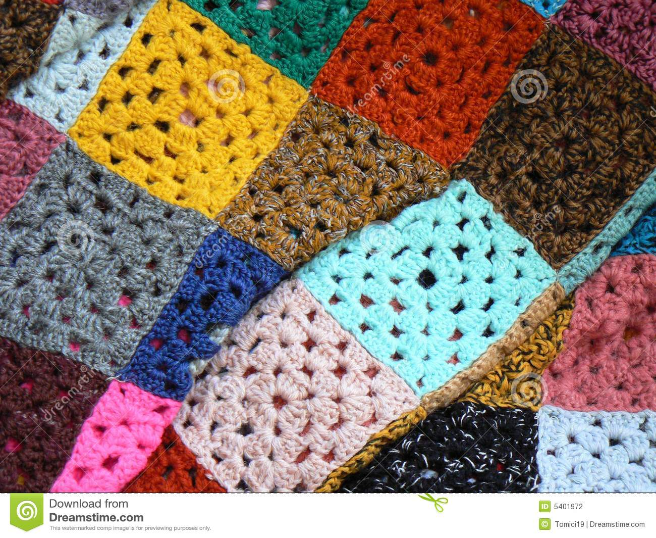 Colorful Blanket Made Of Wool Stock Photography Image