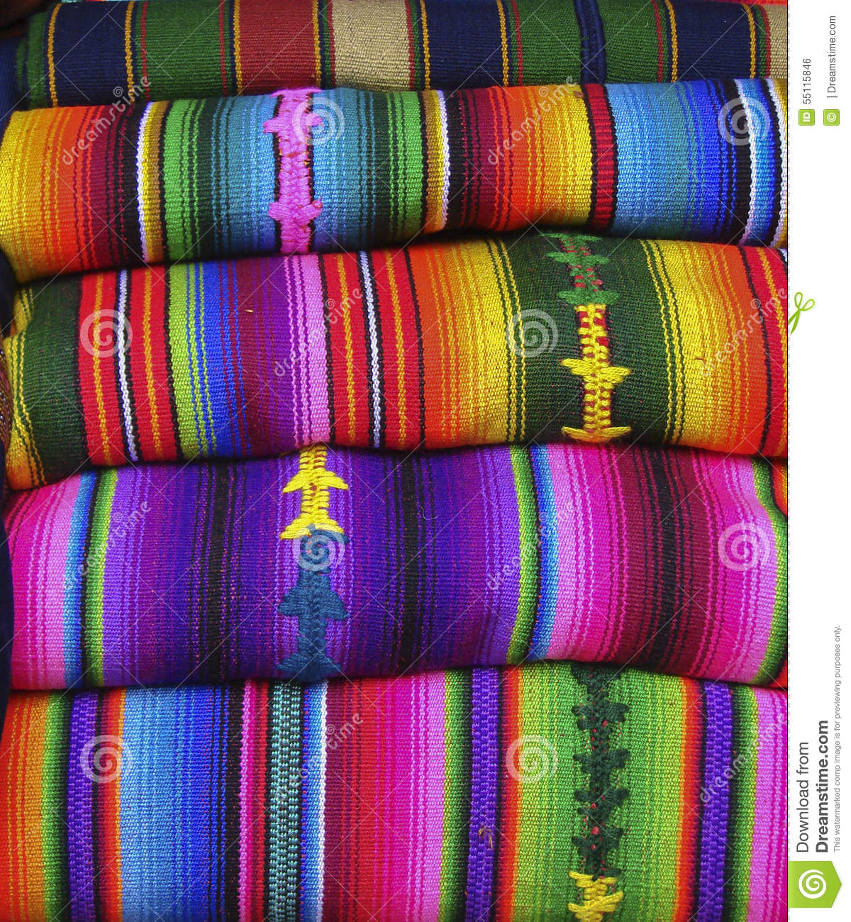 colorful blankets at a guatemalan market stock photo  image  - america blankets central chichicastenango colorful