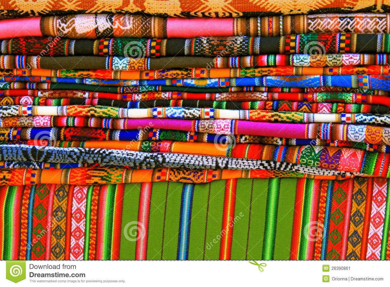 Royalty Free Stock Photo. Download Colorful Blankets And Tablecloths ...