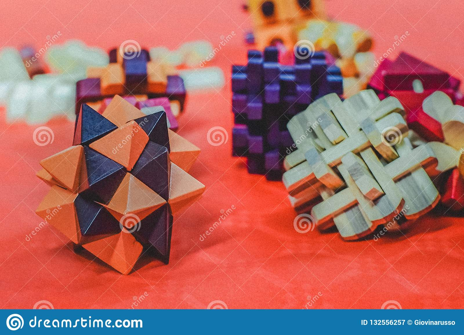 Colorful Block Arrangement of different shapes and colors