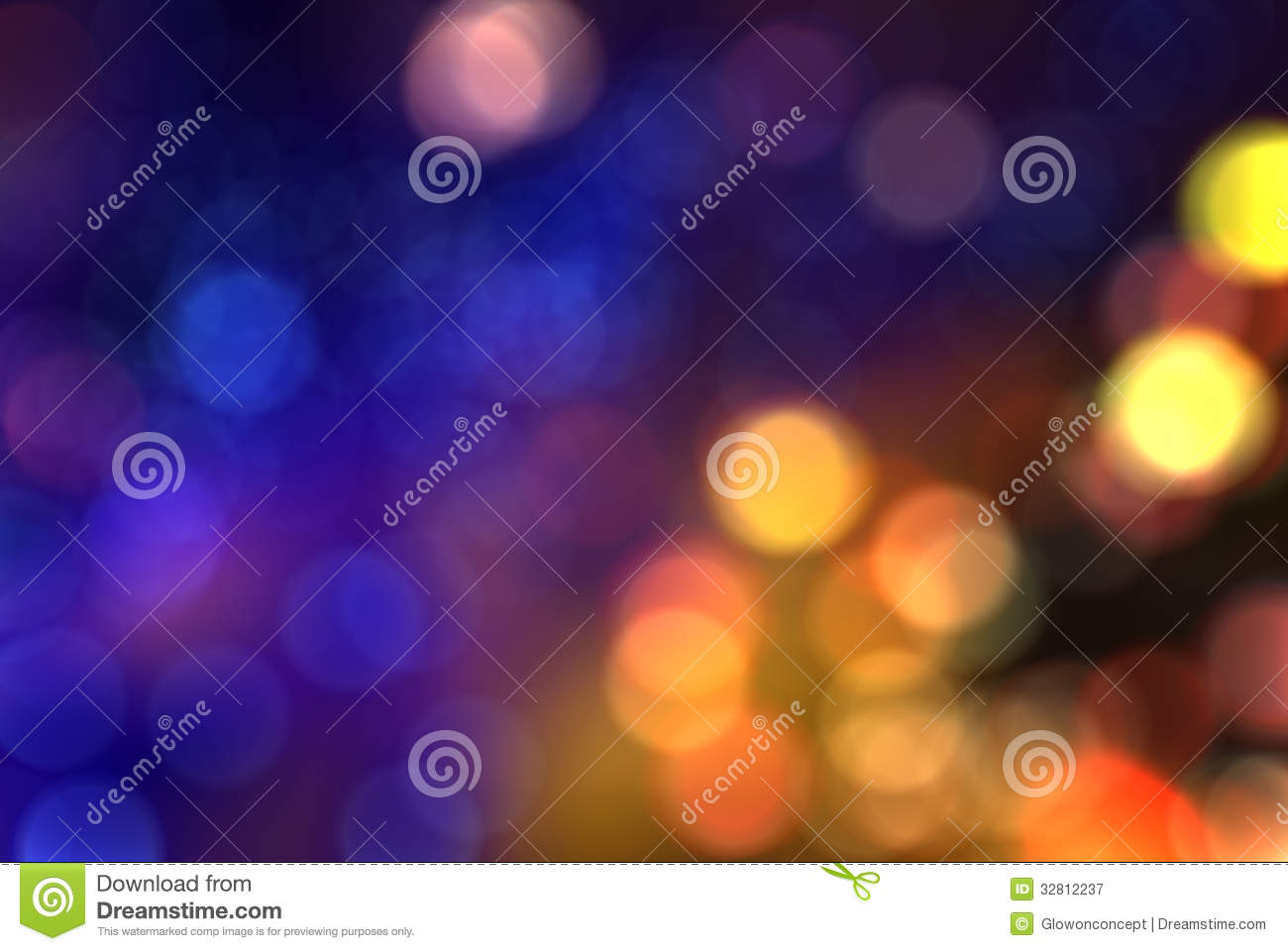 Colorful blur bokeh background