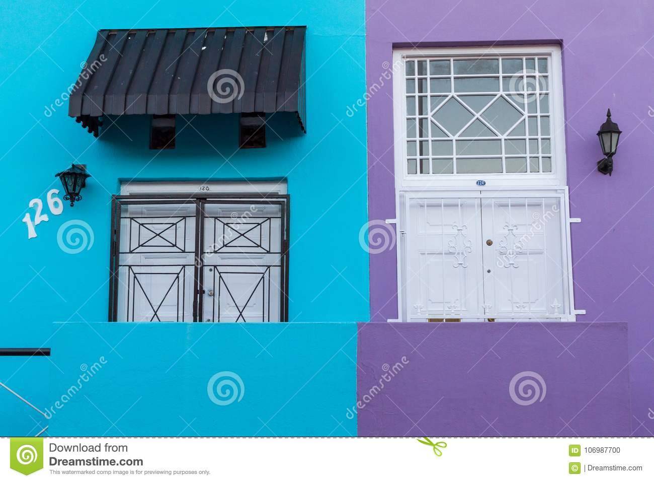 Colorful Bo Kaap Front Doors Editorial Image Image Of Quarter