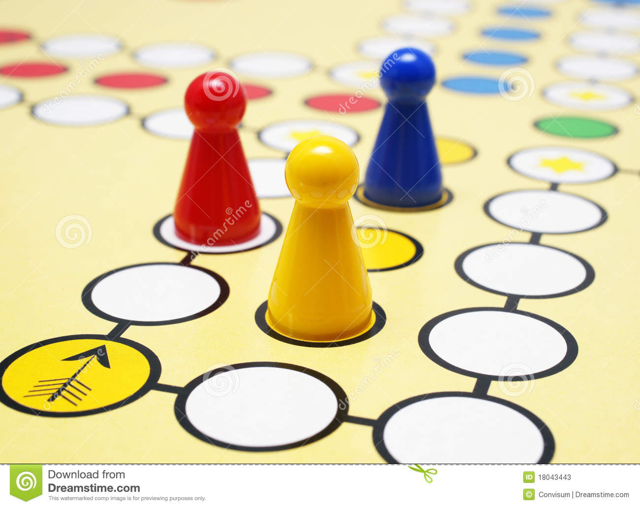Game board colors - Colorful Board Game Stock Photos