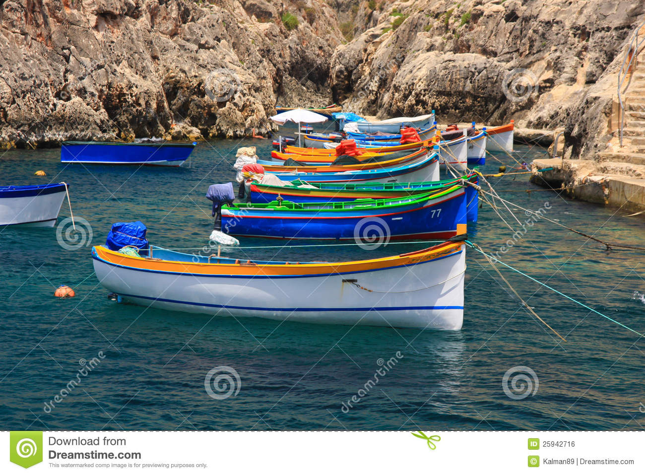 Colorful boats royalty free stock image image 25942716 for Fishing row boats