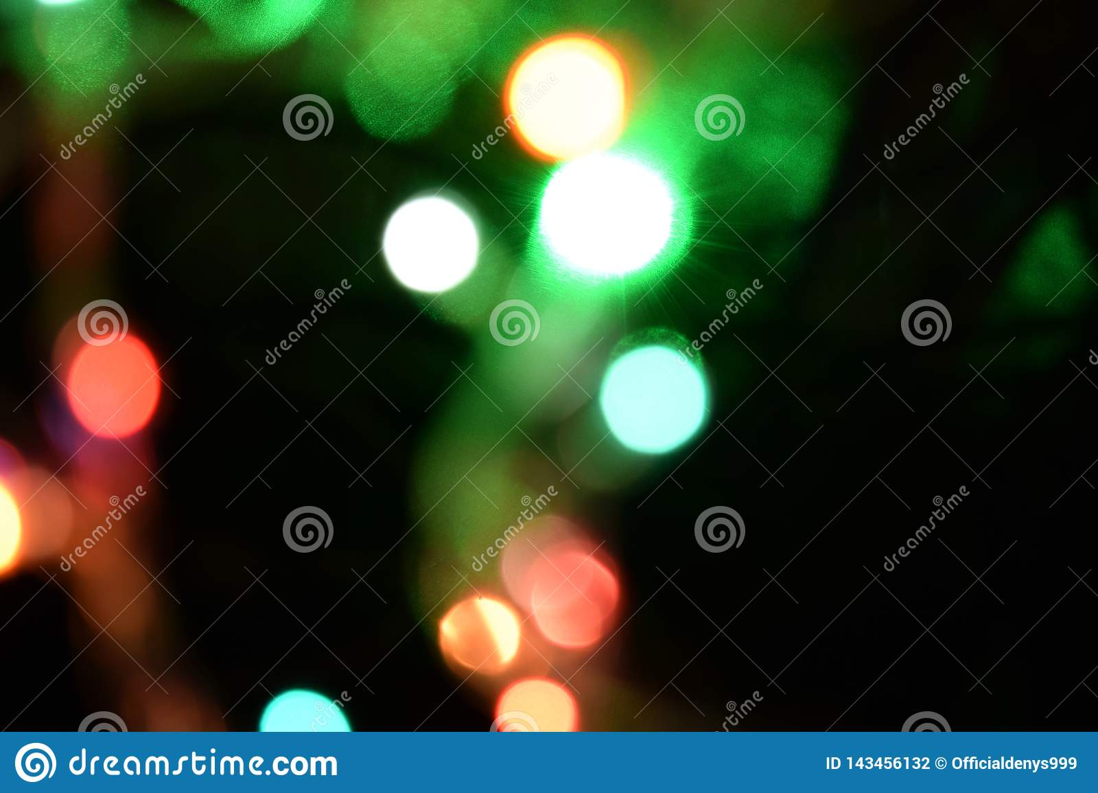 Bokeh light abstract background. Varicoloureds patches of light for background