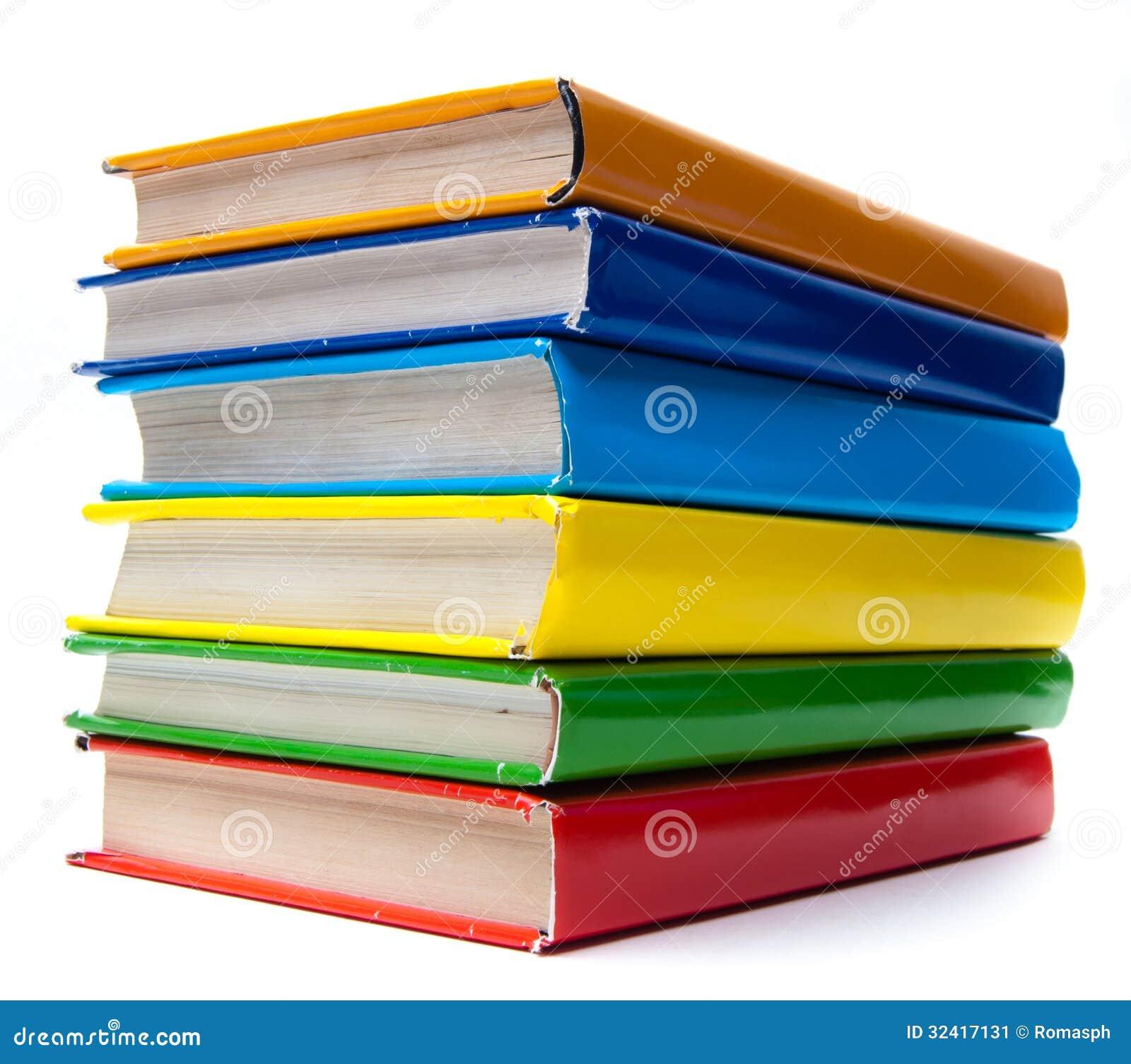 Colorful Books On White Background Stock Image - Image ...