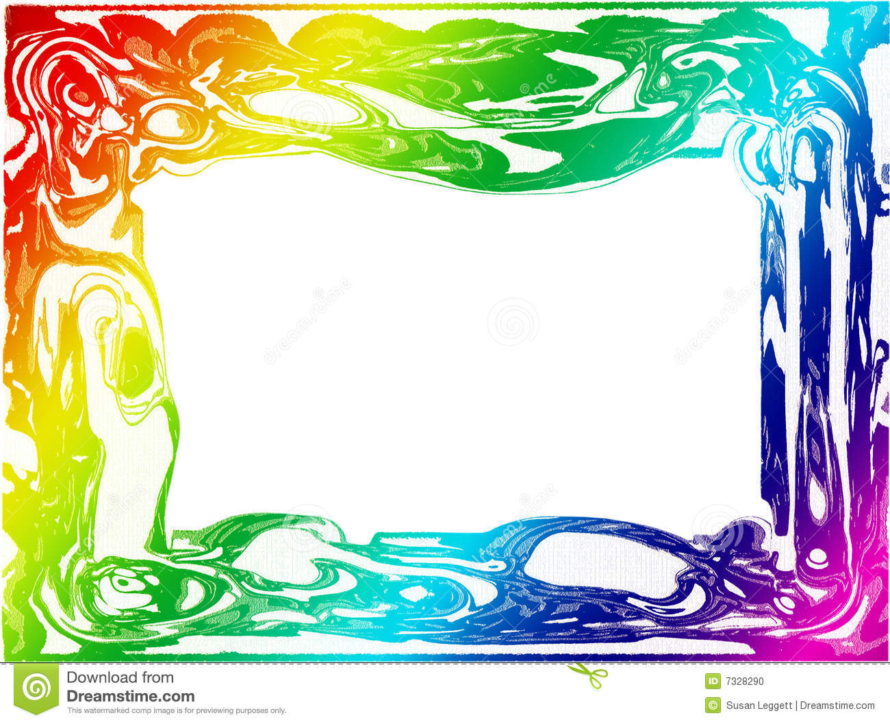 Colorful Border/Frame Stock Photo  Image: 7328290