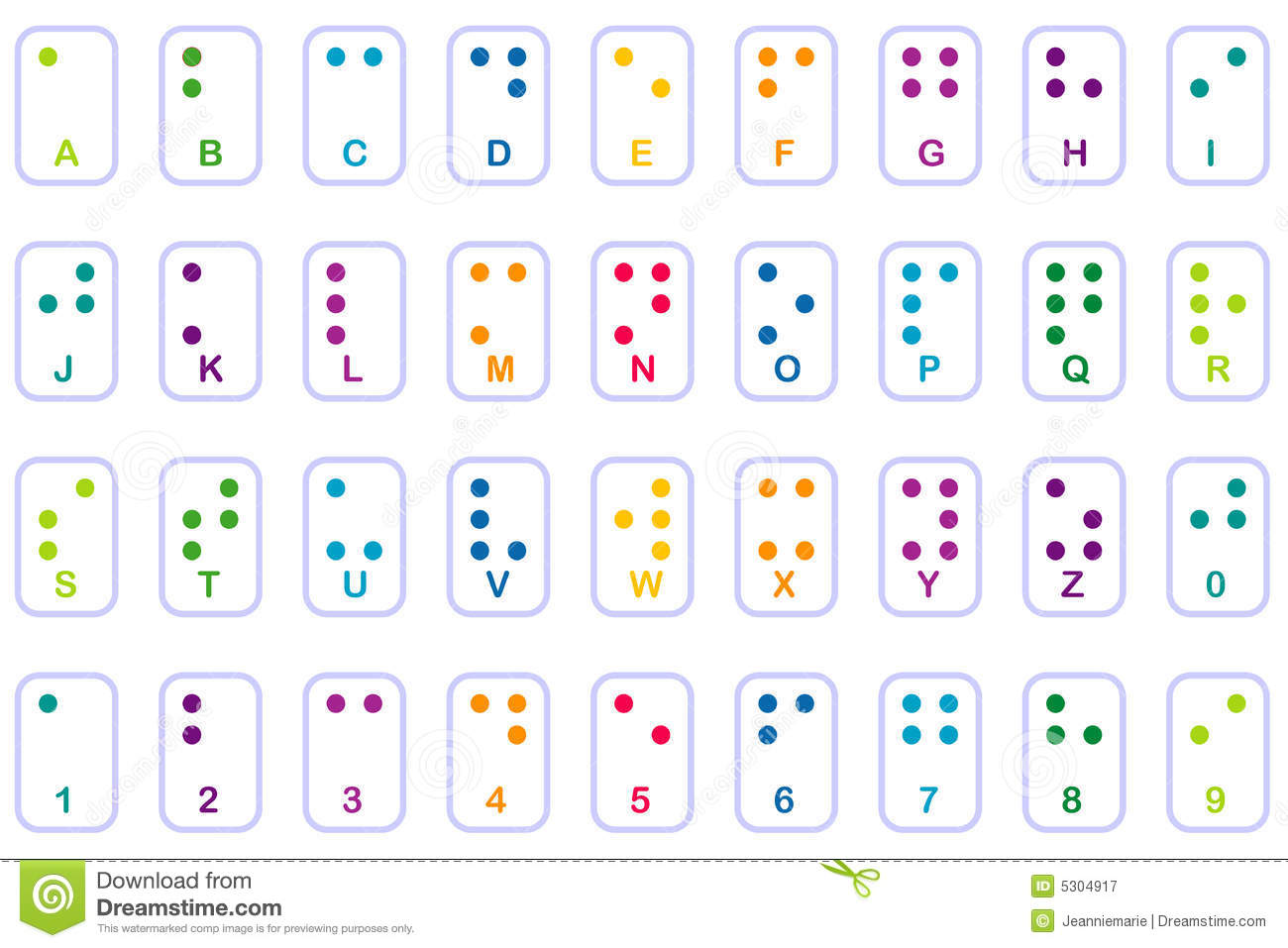 Colorful Braille Basics Royalty Free Stock Photography