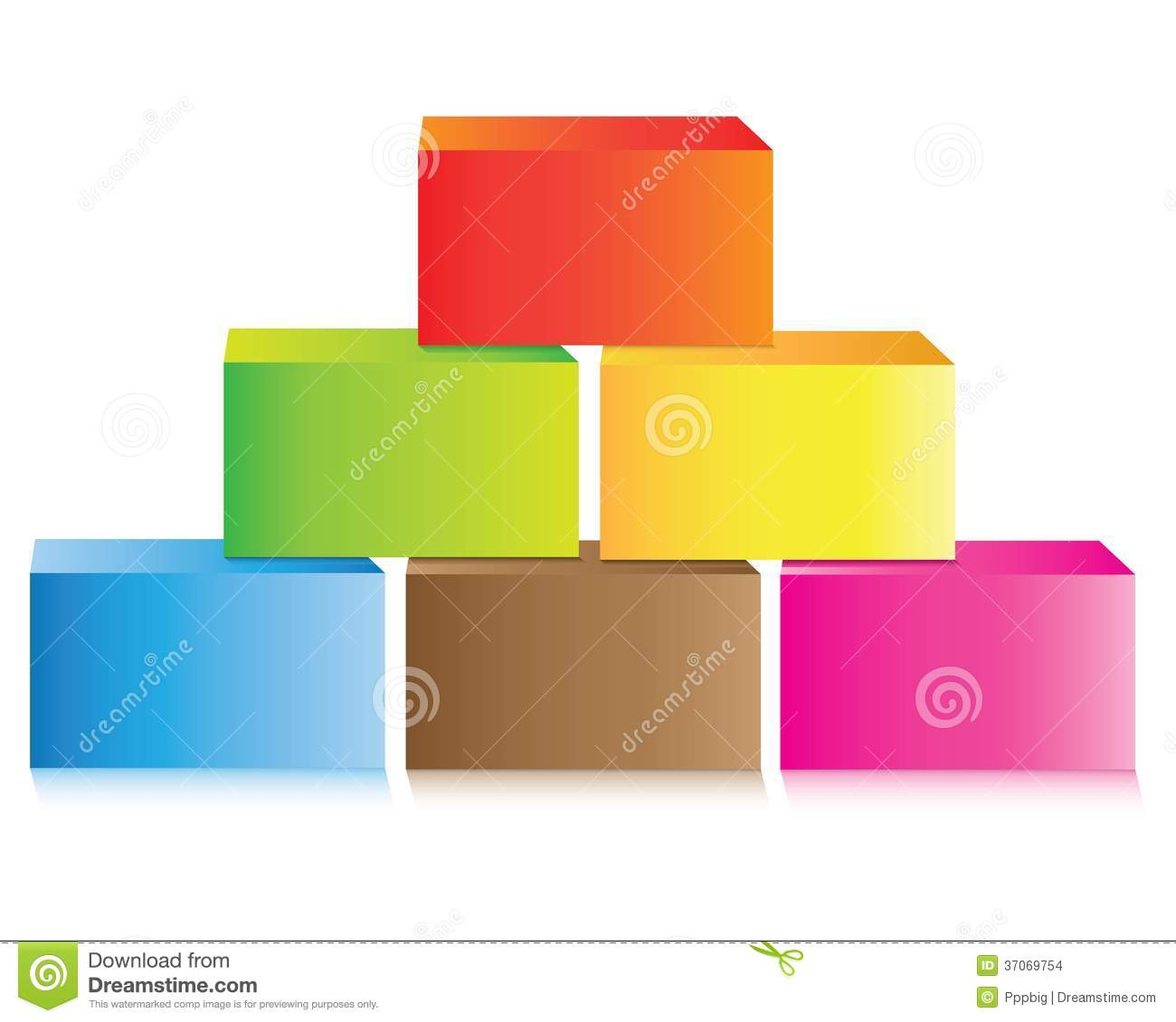 Colorful Brick Pyramid Chart Stock Illustration Of Diagram Template