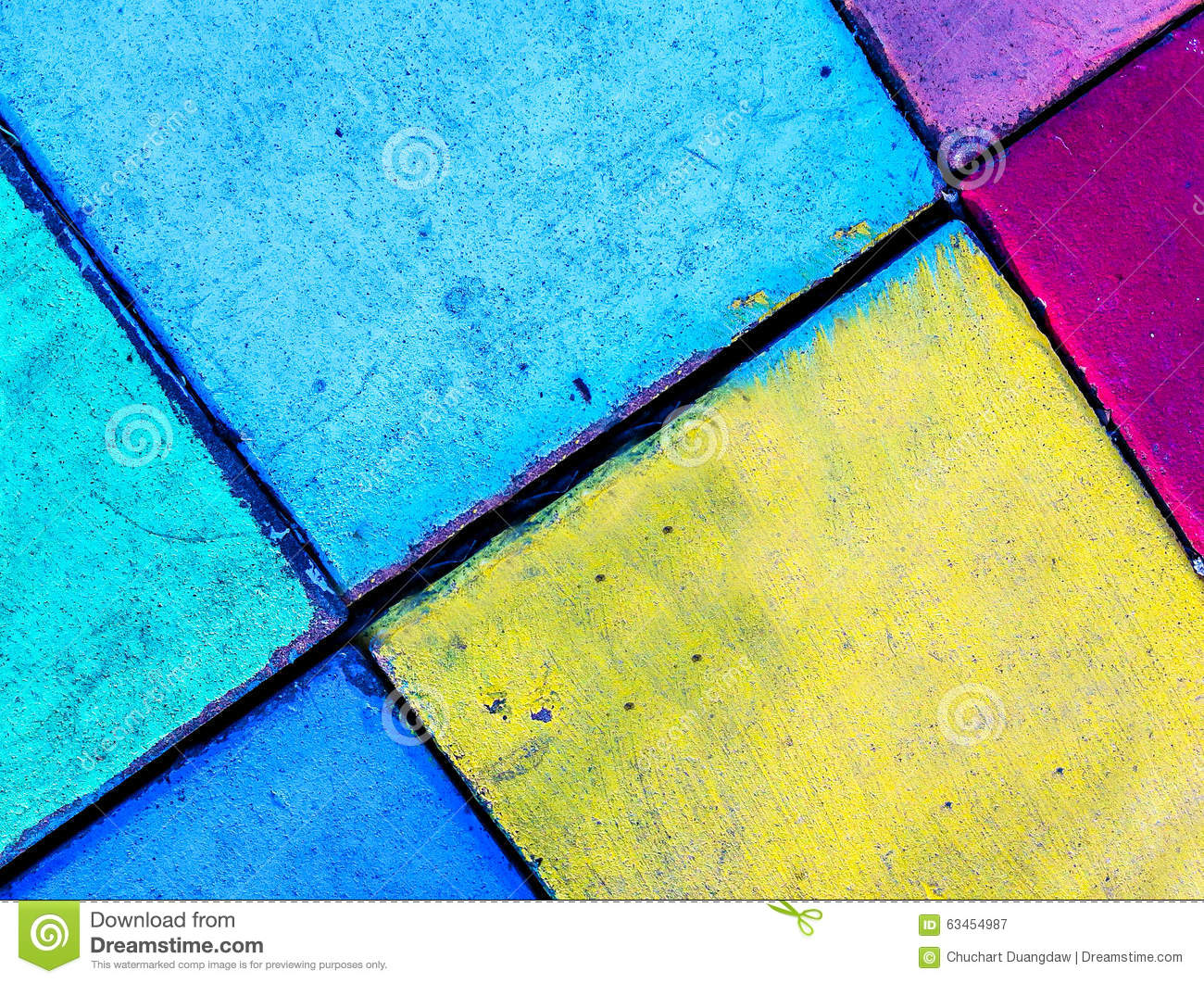 Colorful Brick Wall Background Pattern Vintage Stock Photo 63454987 ...