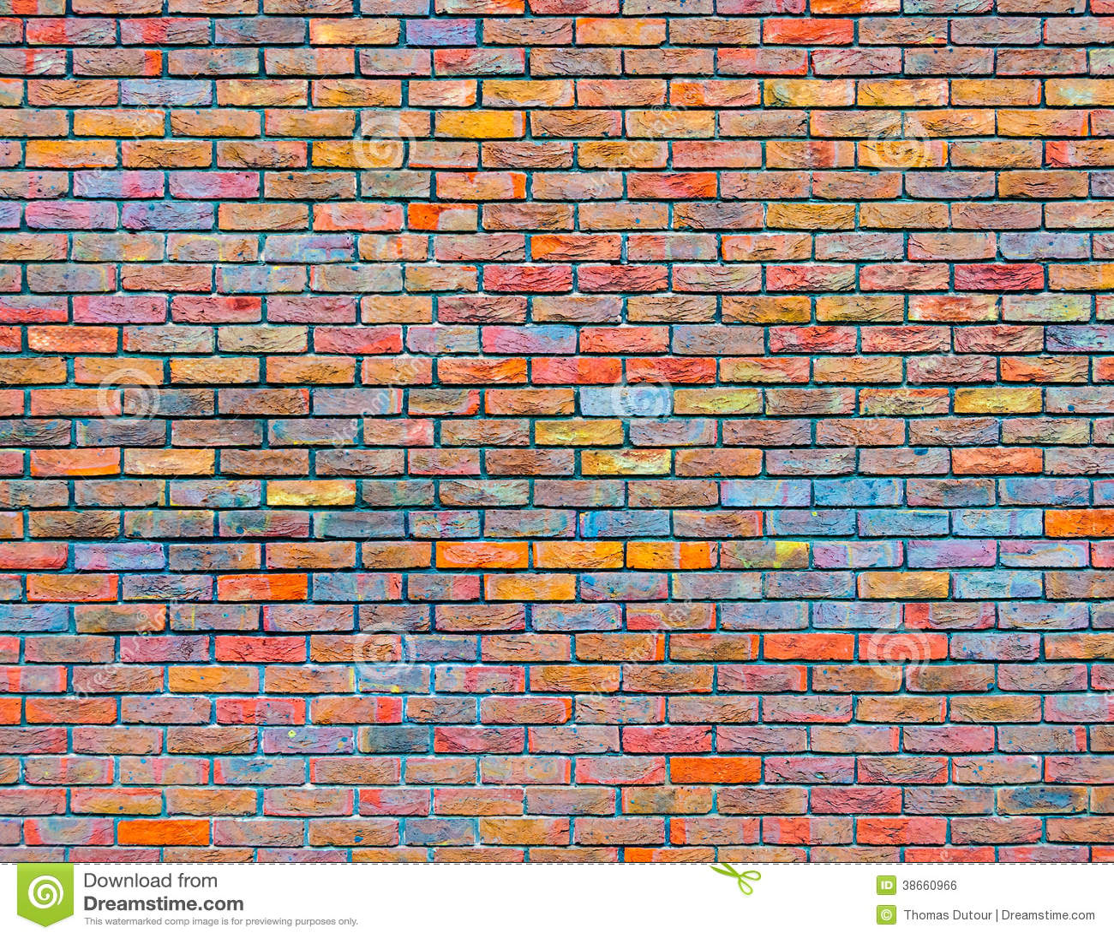 Colorful Brick Wall Texture Royalty Free Stock Image