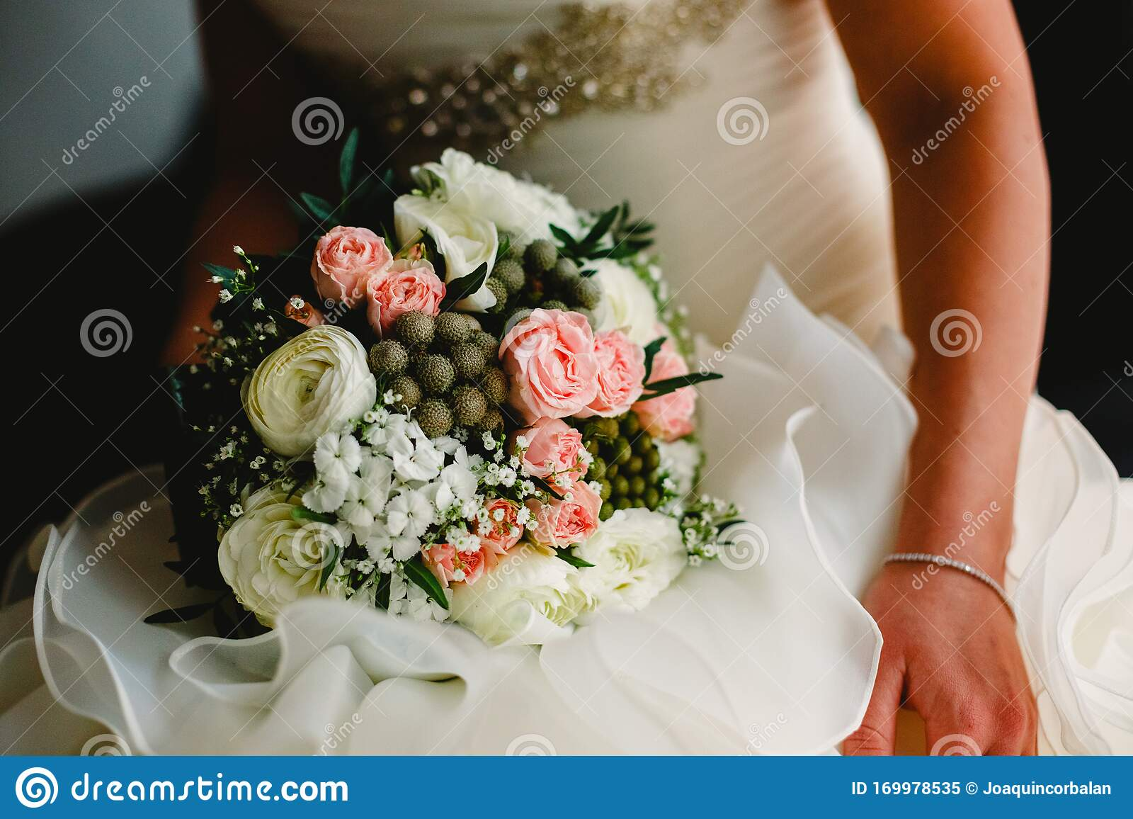 Colorful Bridal Bouquets With Flowers Stock Image Image Of Engagement Marriage 169978535