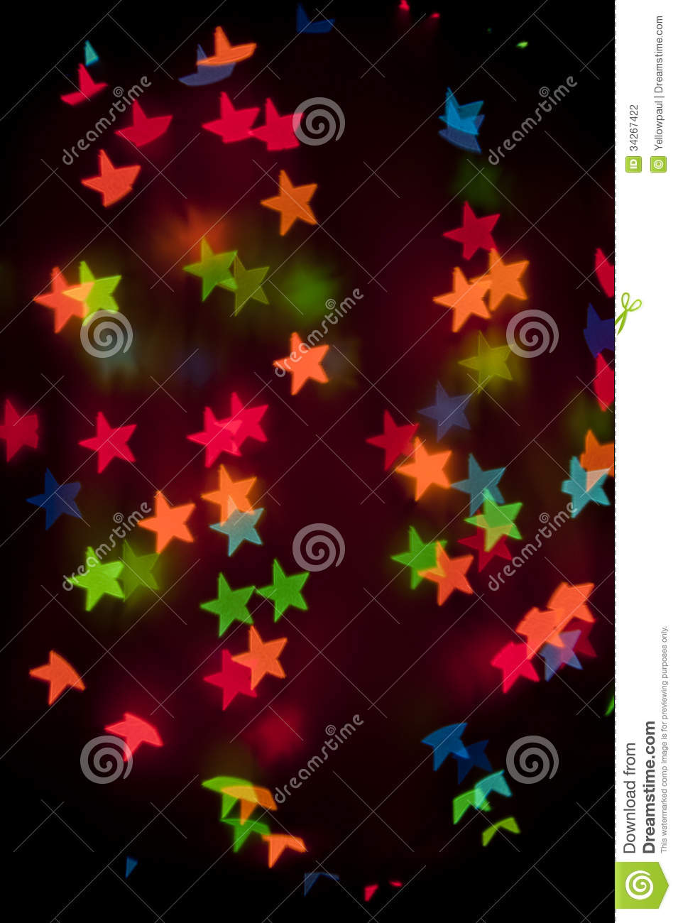 Colorful Bright Bokeh Wallpaper Stars Stock Photography ...