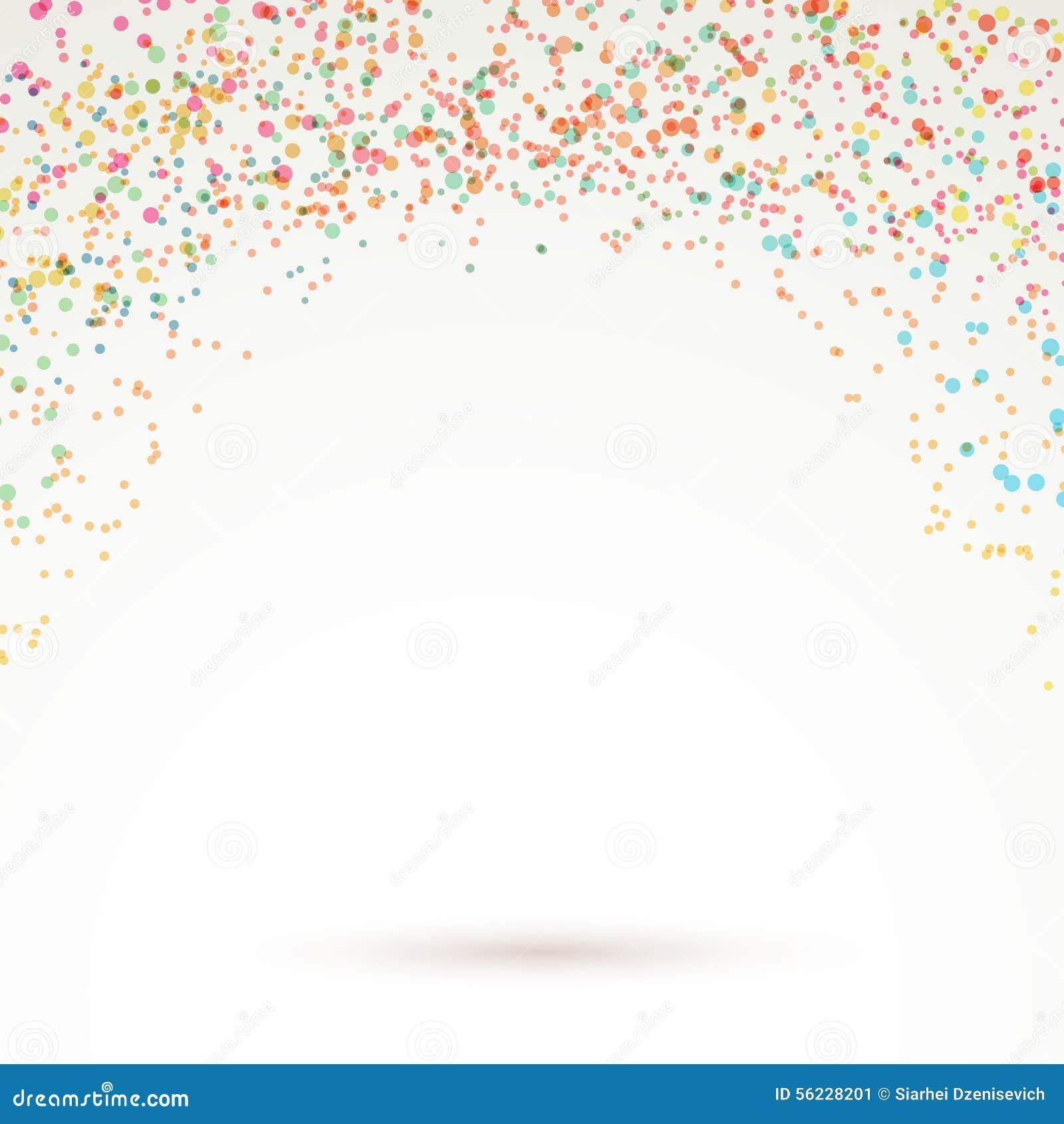 Colorful Bright Confetti Carnival Background Stock Vector