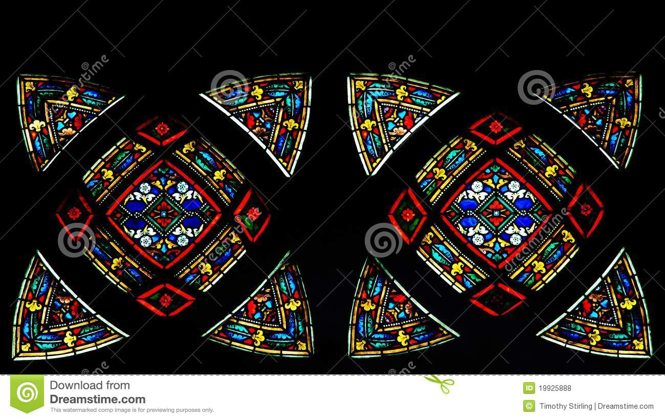 Colorful And Bright Stained Glass Stock Photo