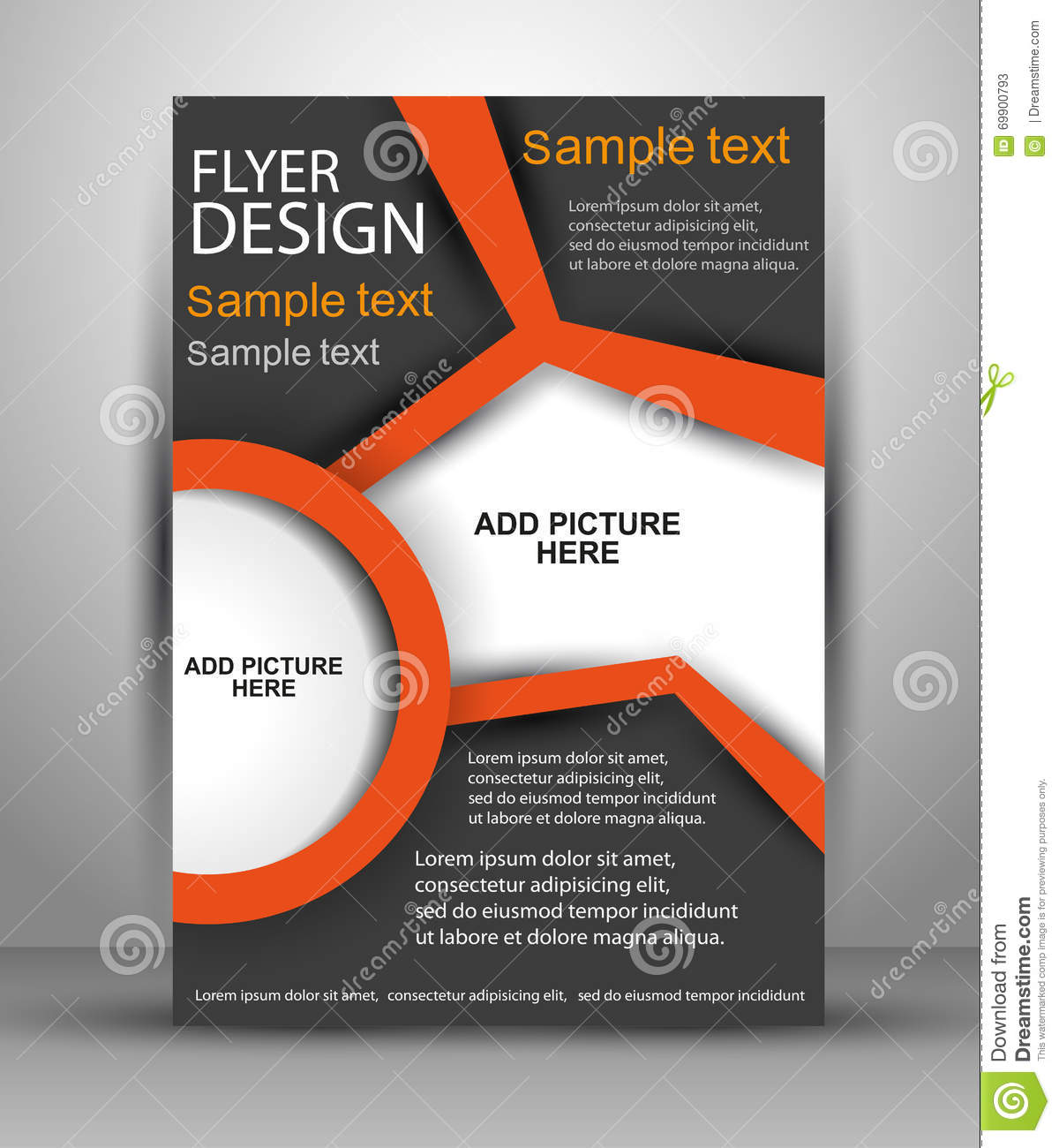 colorful brochure vector design flyer template for business stock
