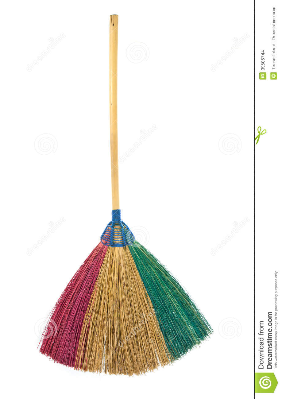 Colorful Broom isolated