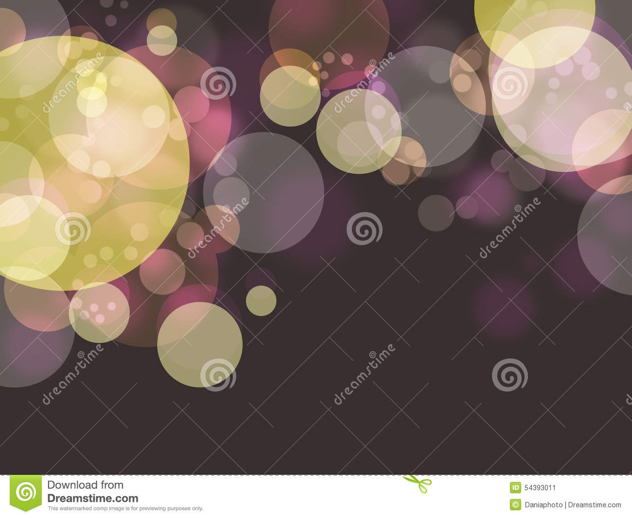 Colorful bubble in dark background