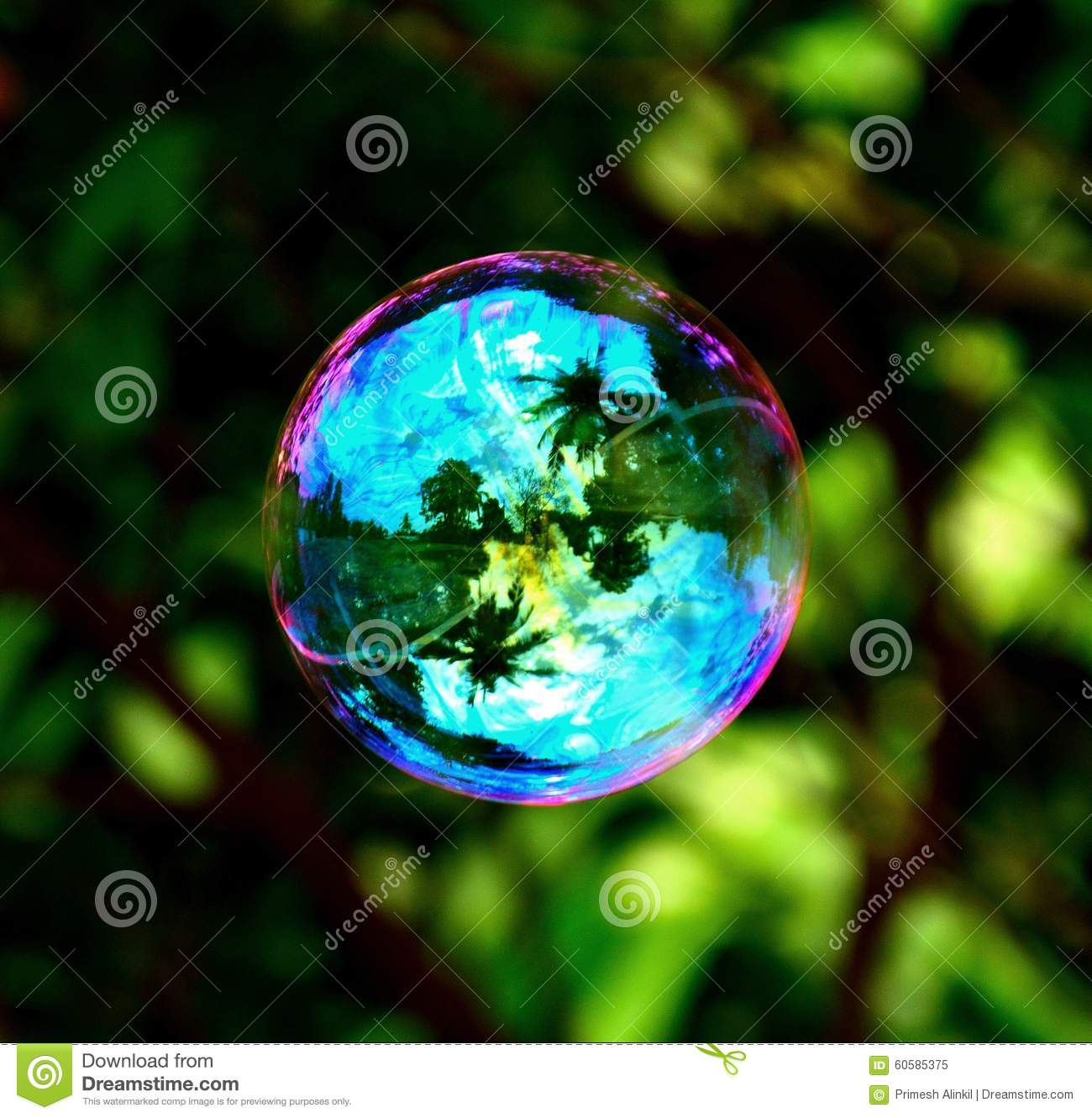 Colorful Soap Bubble Stock Photo - Image: 60585375