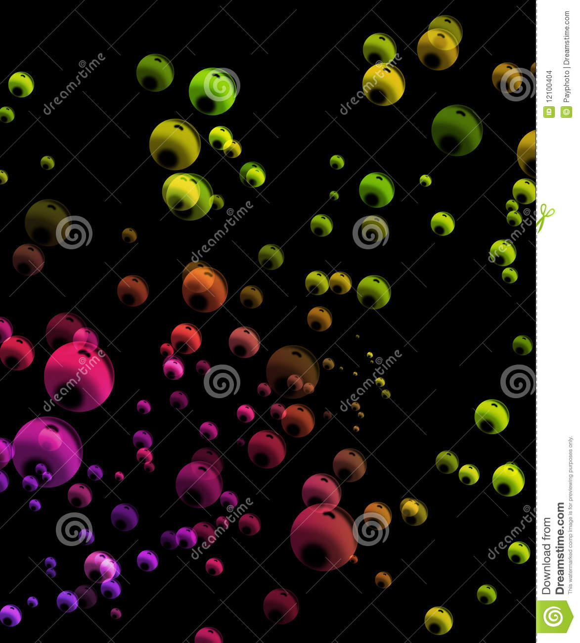Colorful Bubbles Background Stock Images - Image: 12100404