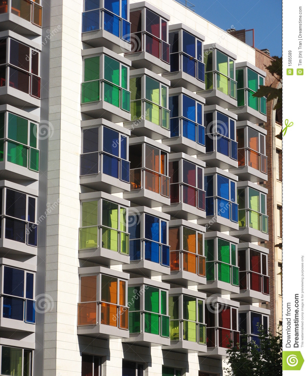 Colorful Buildings: Colorful Building Stock Image. Image Of Hotel, Colorful
