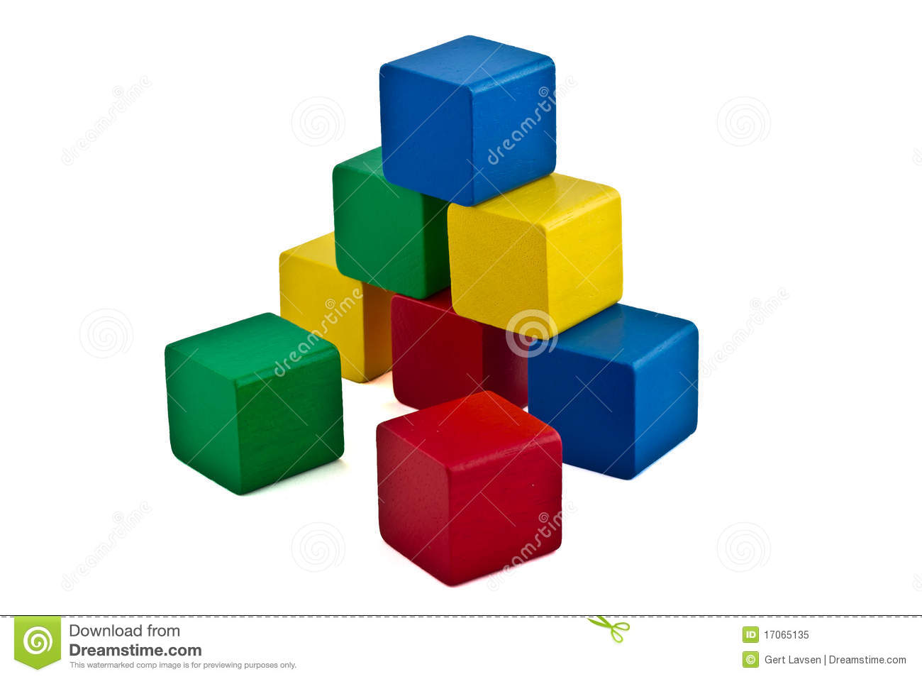Colorful Building Blocks - Pyramid