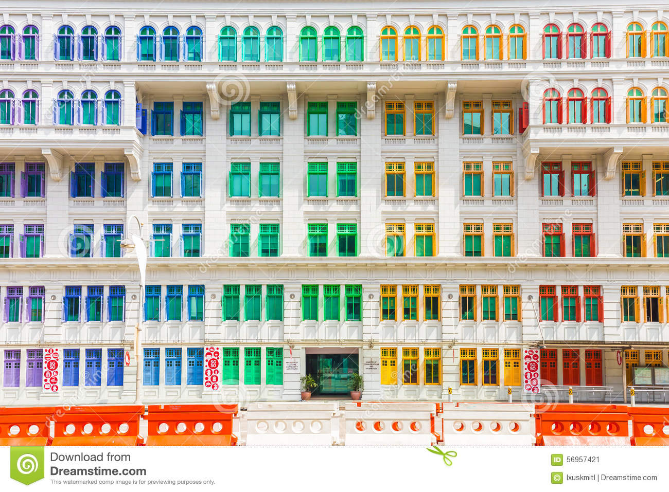 Colorful Building Of Ministry Of Culture, Community And Youth In Stock Image  Image: 56957421