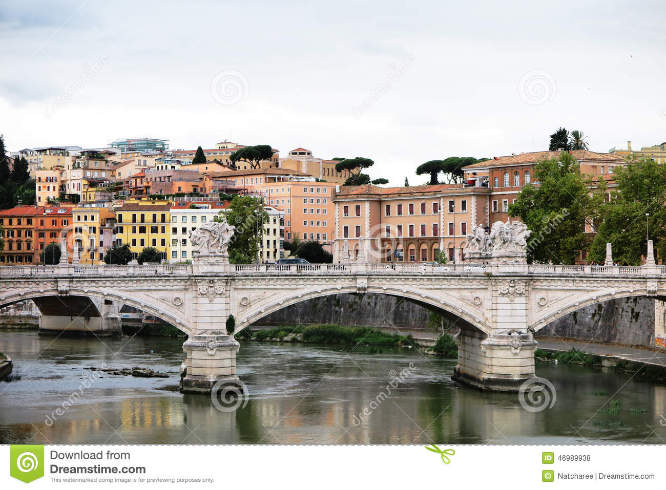 Colorful Building In Rome Italy Stock Photo Image Of