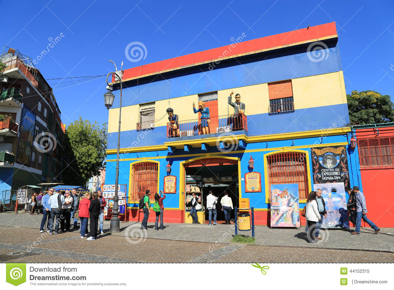 Colorful buildings, La Boca in Buenos Aires