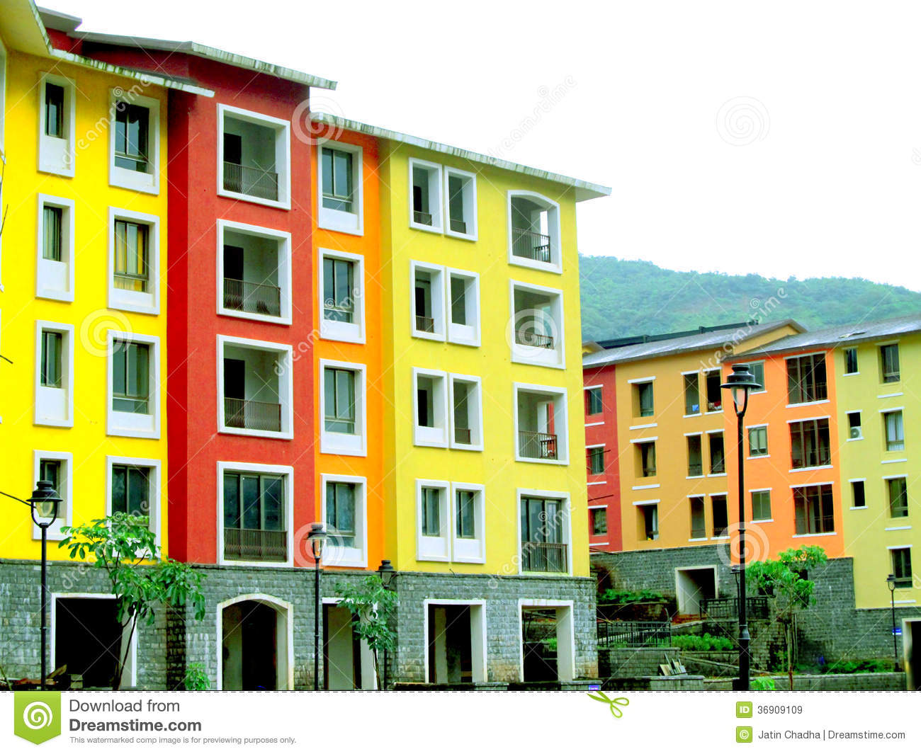 Colorful Buildings Royalty Free Stock Images Image 36909109