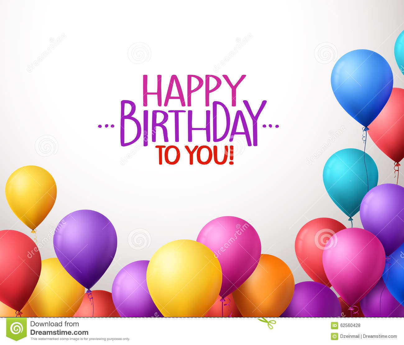 HAPPY BIRTHDAY 3D Colorful Text Royalty-Free Stock Image