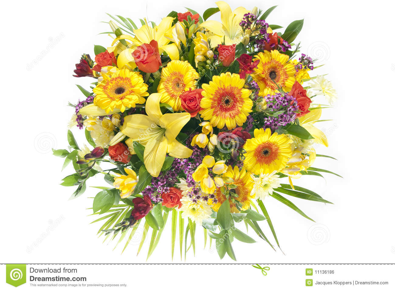 Colorful Bunch Of Lush Spring Flowers Stock Photo Image Of Spring