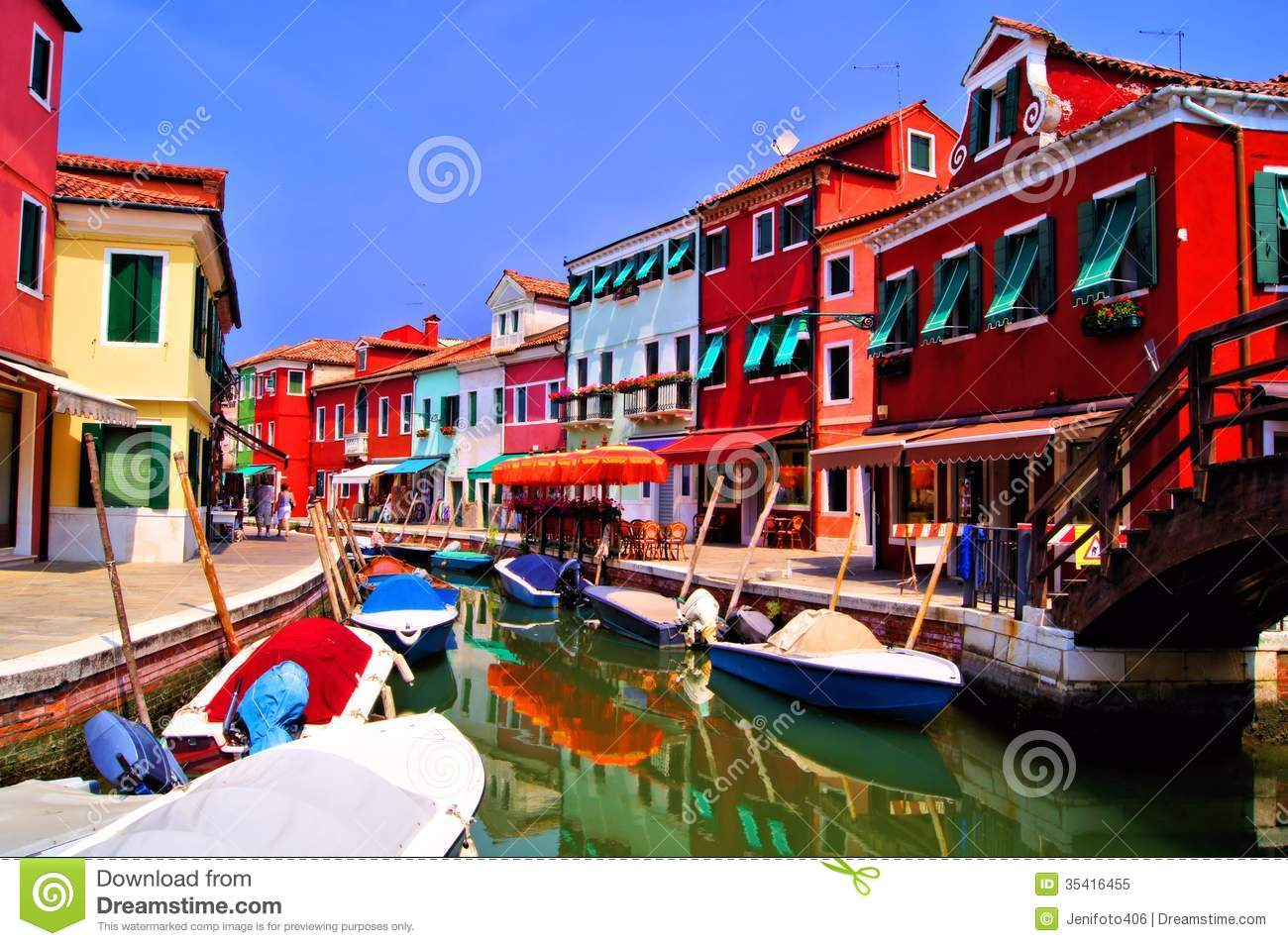 Colorful Burano, Italy Royalty Free Stock Photo - Image ...