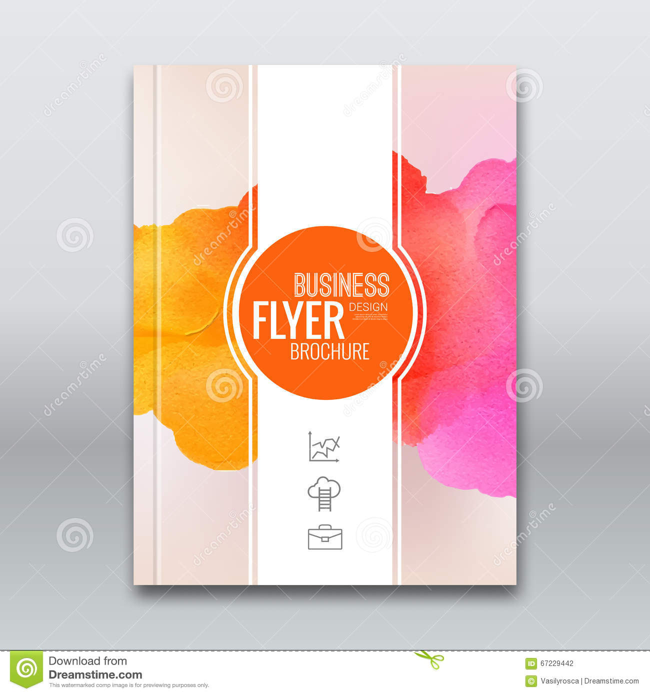 Book Cover Design Watercolor ~ Colorful business background watercolor stain design