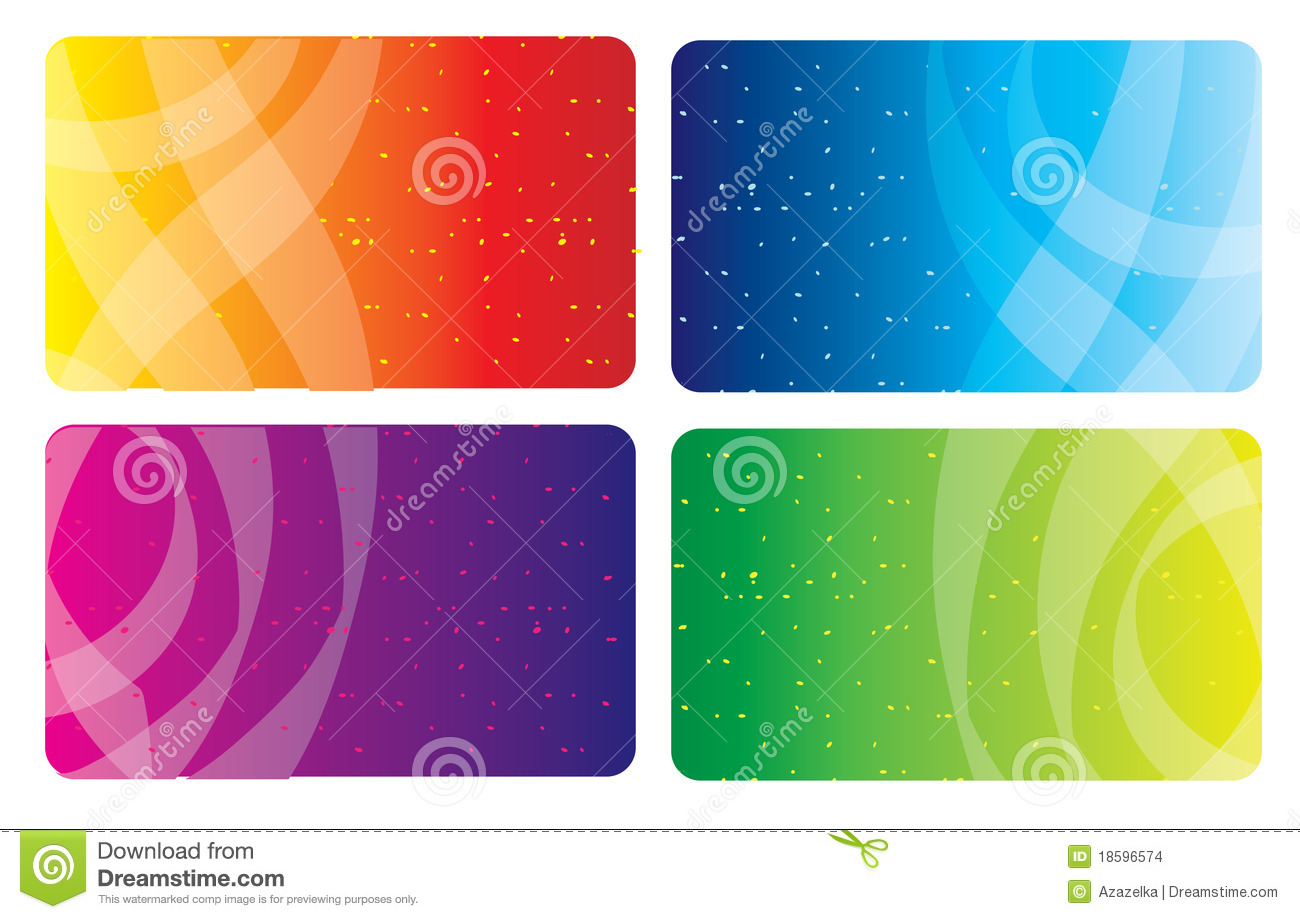 Colorful business card stock vector. Illustration of business - 18596574