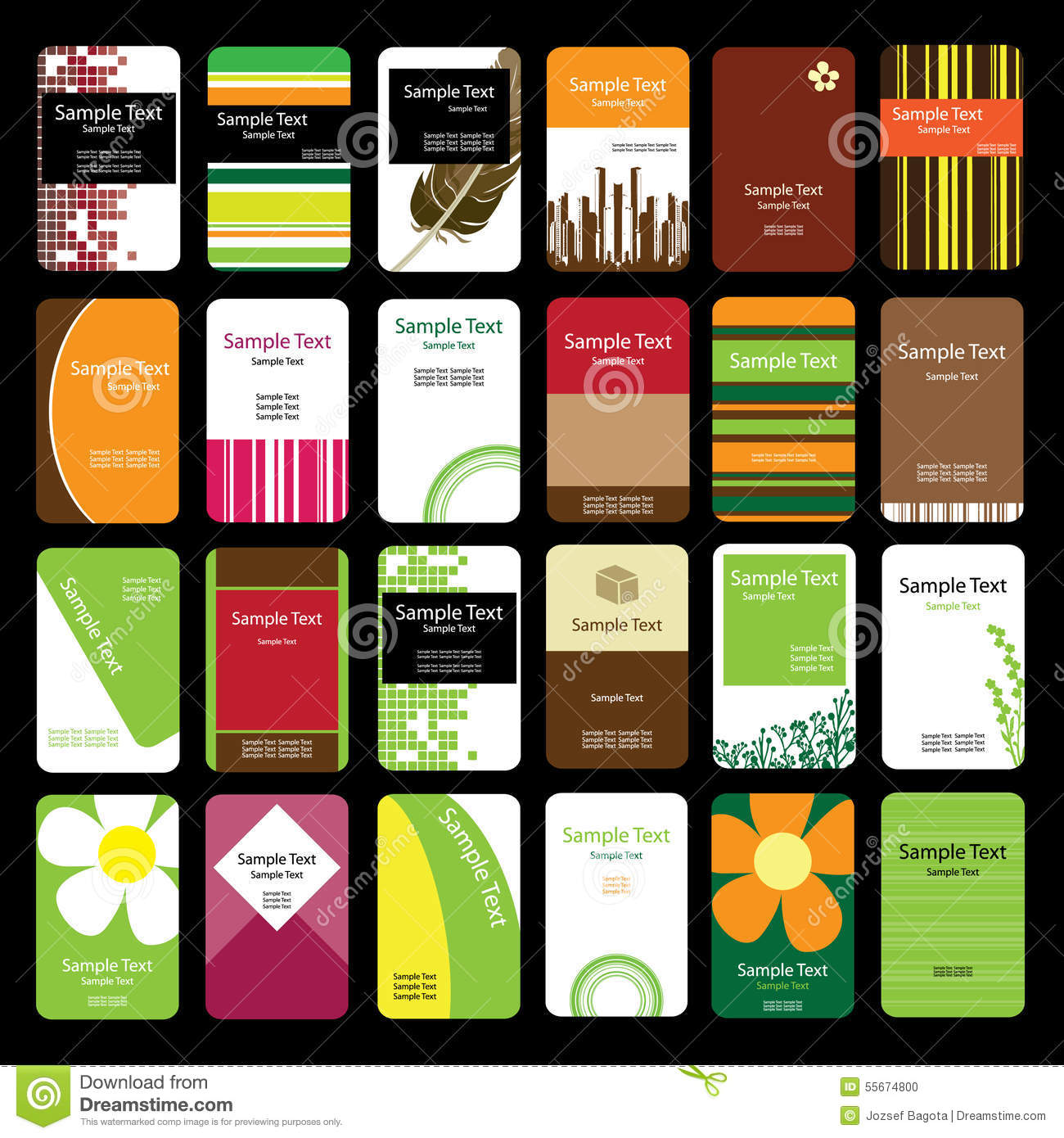 24 Colorful Business Cards